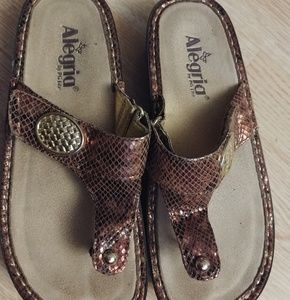 Alegria Sandals Gold, Copper & Bronze